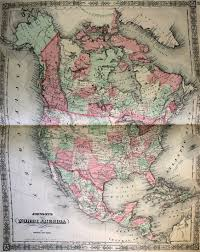 Map Of Nirth America by Map Of North America 1863