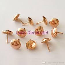 Tack Upholstery 16mm Rose Gold Color Plated Decoration Tack Upholstery Tack