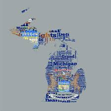 Michigans State Flag Michigan State Flag Word Cloud Digital Art By Brian Reaves