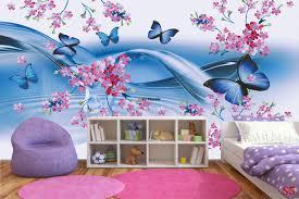 mural gentle butterflies waves blue 2 versions wallpapers mural gentle butterflies waves blue 2 versions