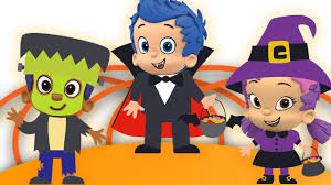 bubble guppies transform into halloween costumes five little kids