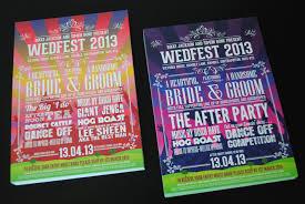 themed wedding invitations festival poster themed wedding invitations wedfest