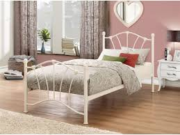 White Metal Bed Frame Single Single 3ft White Metal Bed Frame