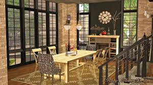 sims 3 modern kitchen sims3 industrial chic 工業風住宅 ruby u0027s home design