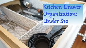 Organizing Ideas For Kitchen by Kitchen Drawer Organization Ideas For Under 10 Youtube