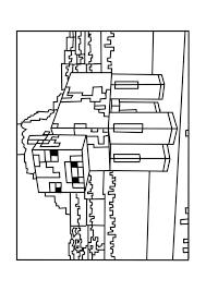 mooshroom minecraft coloring pages free printable