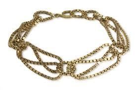 large link necklace images Brass large link choker necklaces kerri parker jewelry box jpg