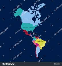 map america continent vector illustration stock vector 636786019