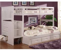 white twin over full bunk bed with stairs prepossessing dining