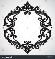 symmetric ornament frame style element stock vector