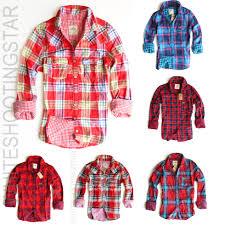 nwt hollister hco womens preppy plaid casual shirt xs s m l