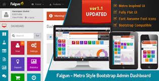 falgun metro style bootstrap admin dashboard metro style