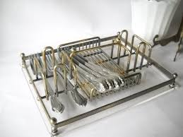 dining room interesting metal silverware caddy for your kitchen