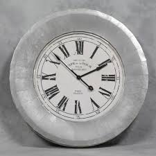furniture amazing design of oversized wall clock in silver nuance
