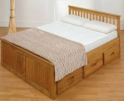 small double captains bed 4ft wooden bed with 6 storage drawers