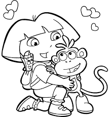dora the explorer coloring page printable kids colouring pages