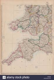 Map Of Cornwall England by South West England U0026 S Wales Devon Cornwall Somerset Weller