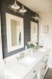 bathroom extravagant grey wall paint plus twin mirror cabinet and