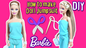 diy how to make barbie doll jumpsuit doll clothes tutorial