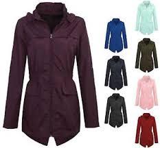 plus size light jacket new womens plus size light showerproof rain jacket hooded mac ebay