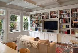 How To Make Bookcases Look Built In How To Get That Built In Media Wall You Really Want