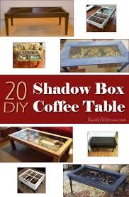Box Coffee 20 diy shadow box coffee table plans guide patterns