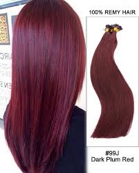 pre bonded hair extensions reviews 99j plum flat tip 100 remy hair flat pre bonded