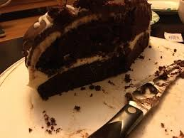 chocolate cake with cream cheese frosting home cooking baking