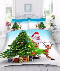 Christmas Duvet Cover Sets Printed Father Christmas Duvet Quilt Cover Pillowcases Bed Set