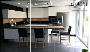 element de cuisine gris meuble cuisine noir laqu meuble laqu noir brillant
