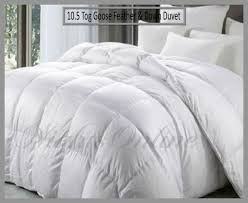 2 Tog King Size Duvet New Hotel Quality Goose Feather U0026 Down Duvet 10 5 Tog Quilt All