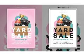 garage sale flyer flyer templates creative market