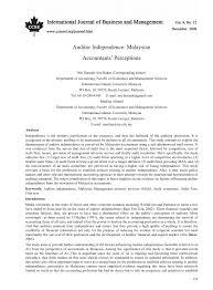 auditor independence malaysian accountant u0027s perception