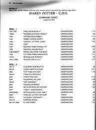 harry potter et la chambre des secrets complet vf harry potter and the chamber of secrets 2002 complete cue list