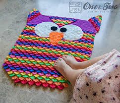 Purple Owl Rug Ravelry Colorful Owl Rug Pattern By Carolina Guzman