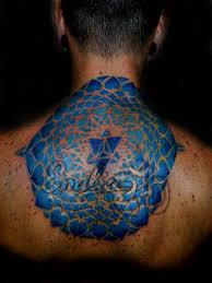 Big Flower Tattoos On - blue ink name spiritual mandala big flower golfian com
