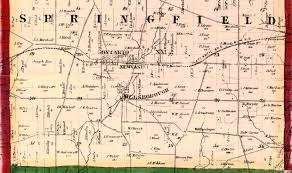 Springfield Ohio Map by Atlas Of Richland County 1856