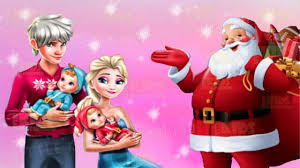 frozen elsa and jack frost family christmas disney princesses