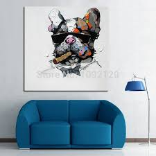sell home decor cool smoking dog hot sell painting home decor animal paintings oil
