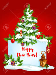 free new year wishes new year winter holidays greeting card banner with happy new