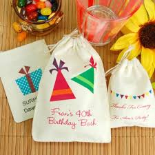 custom favor bags personalized cotton birthday favor bag birthdays