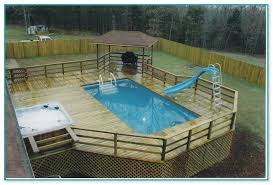 awesome above ground pool wood deck kits 2