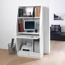 bureau informatique fermé meuble fermé pour ordinateur meuble bureau noir eyebuy