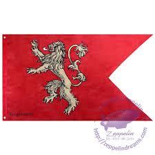 house lannister house lannister flag game of thrones zeppelin un món de jocs