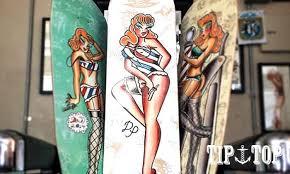 goodforit 南加州tip top tattoo parlor deck畫報夏威夷女郎楓木滑板