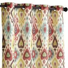 Pier One Drapes Vibrant Paisley Back Tab Curtain Paisley Curtains Dining Room