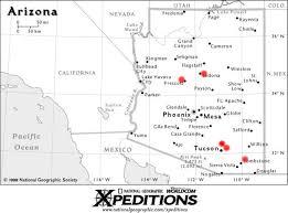 map of az map of arizona dragoon mountains