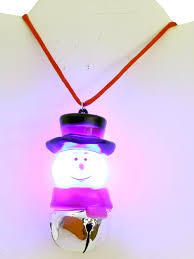 ugly christmas jewelry light up flashing snowman necklace 90s