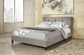King Headboard And Footboard Set Bedroom White Upholstered Plaid Pattern Microfiber Bed With King
