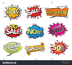 free halloween background sounds set comic sound effects design promotion stock vector 498267019